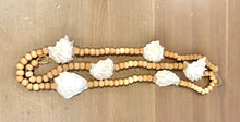 Load image into Gallery viewer, Natural Oyster Shell & Wooden Bead Garland