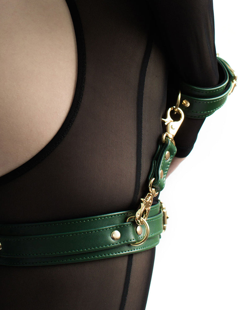 "Thigh Cuffs ""Dita"" Emerald"