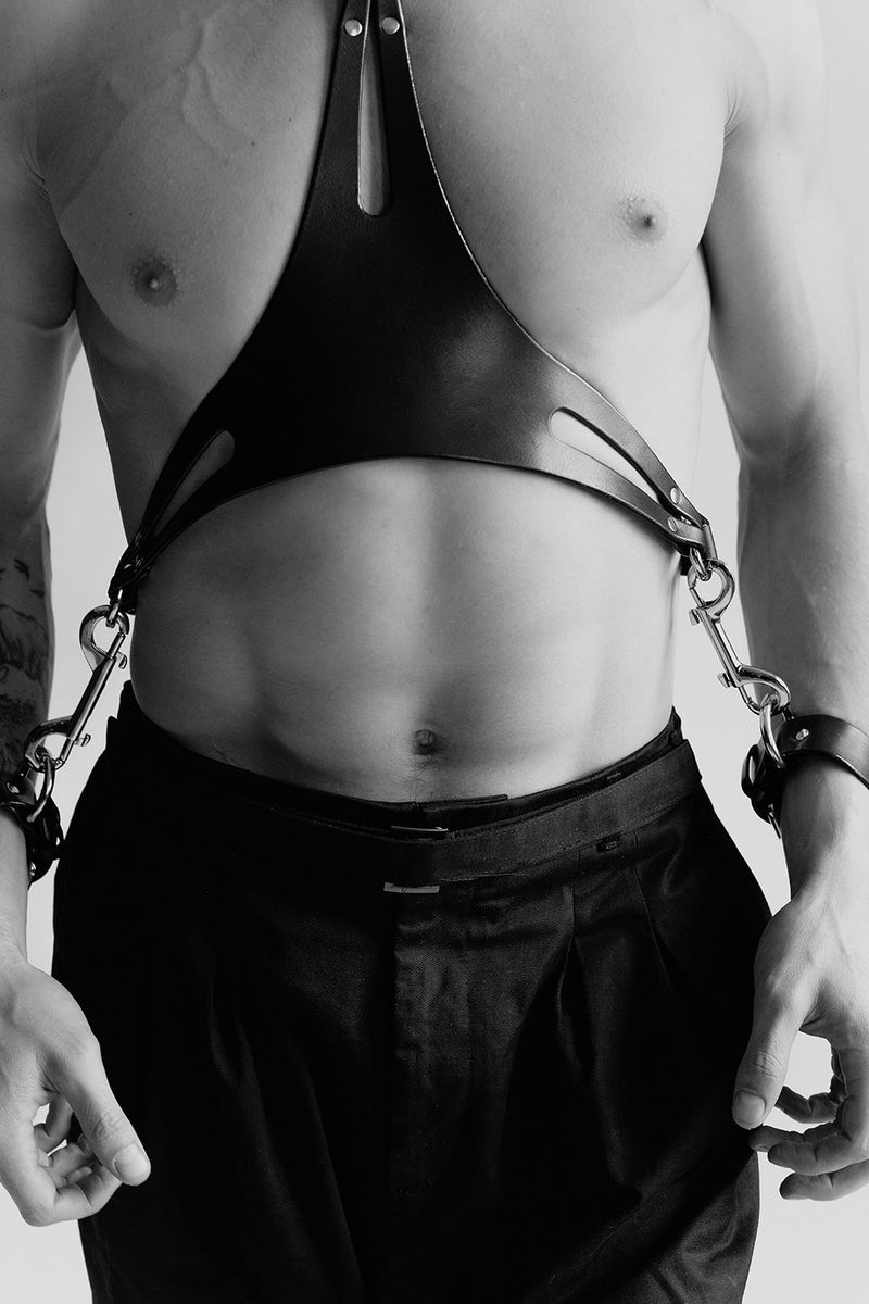 BDSM men gay harness