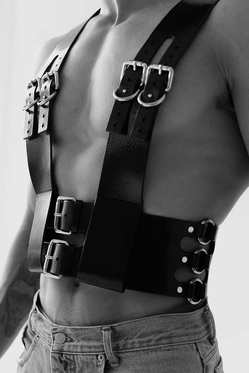 mens leather harness