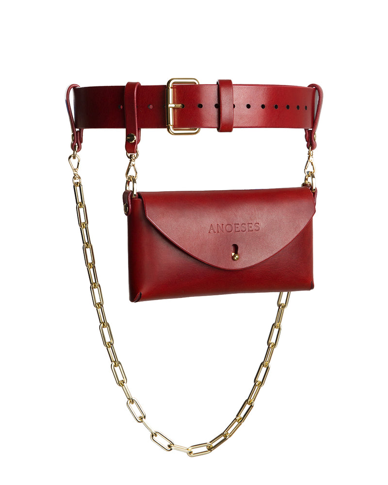 anoeses leather waist bag