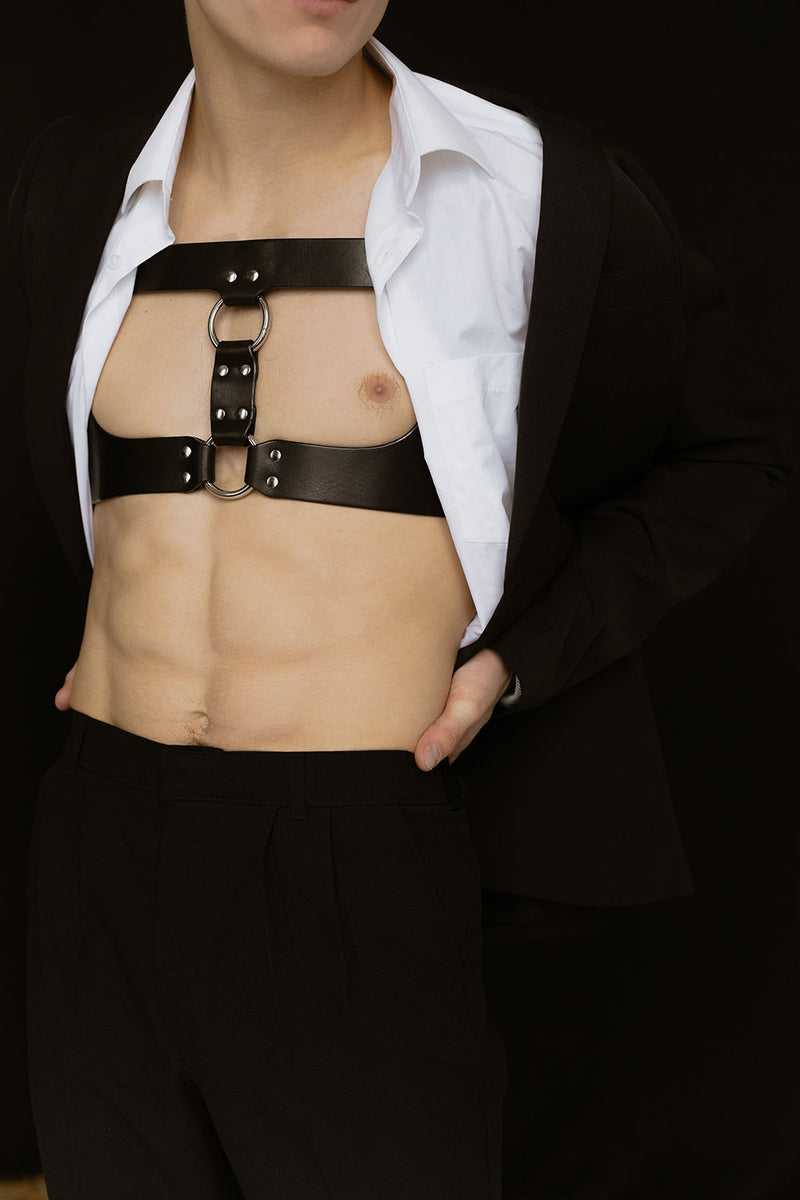 Anoeses leather gay harness
