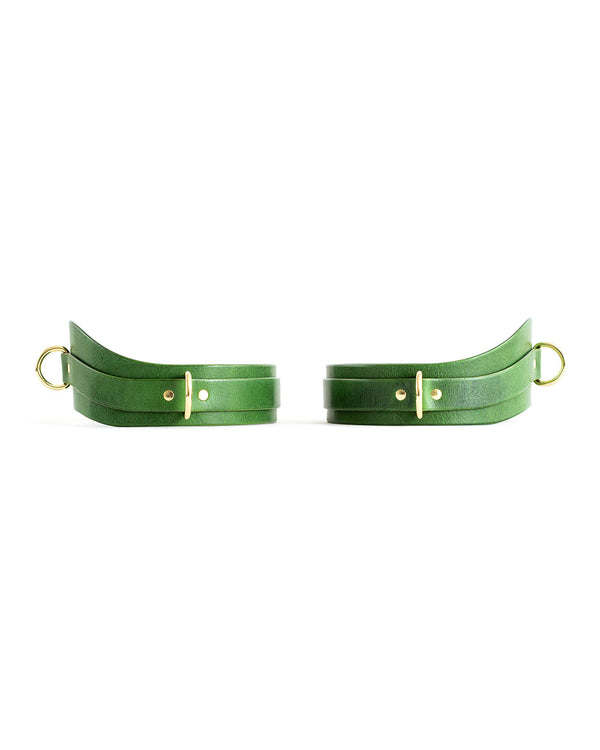 "Thigh cuffs ""URANIA"" Green"