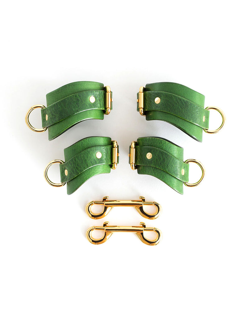 "Hand & Ankle cuffs ""URANIA"" Green"