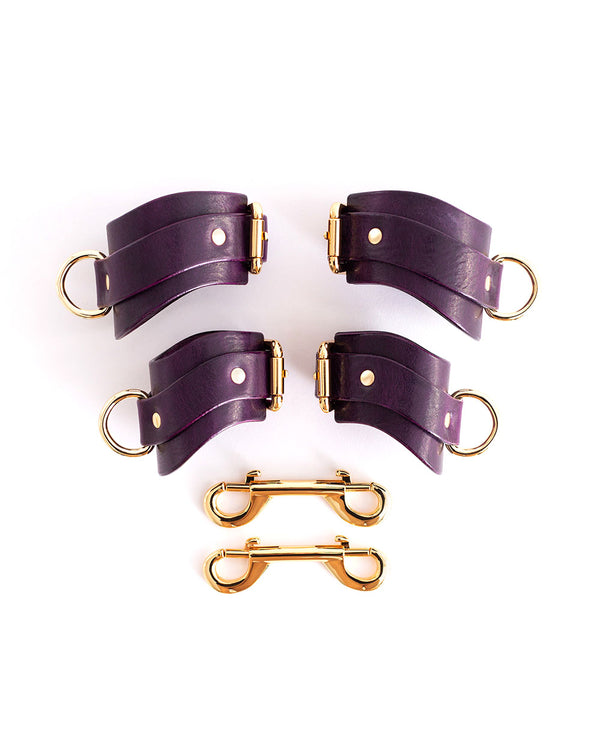 "Hand & Ankle cuffs ""URANIA"" Violet"