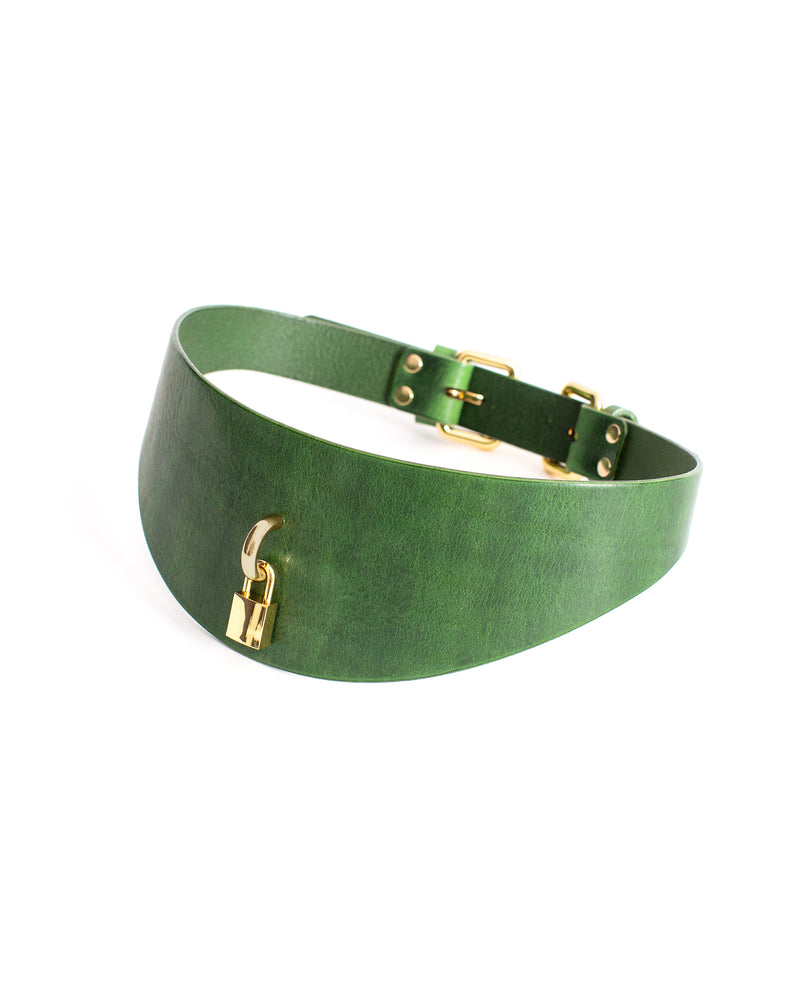 Anoeses green leather belt