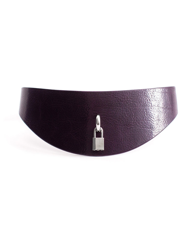 Anoeses violet leather casual belt