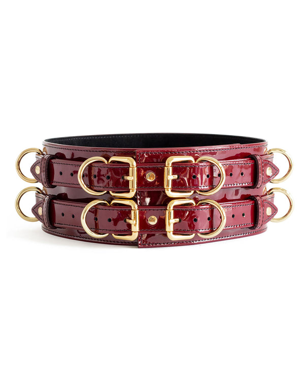 "Belt ""Aura"" Burgundy Patent"