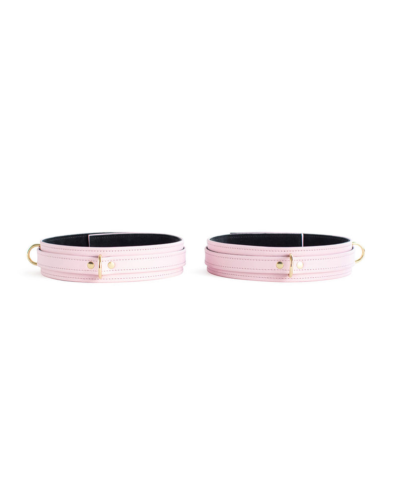 pink leather cuffs