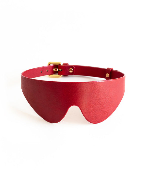 anoeses red blindfold leather mask