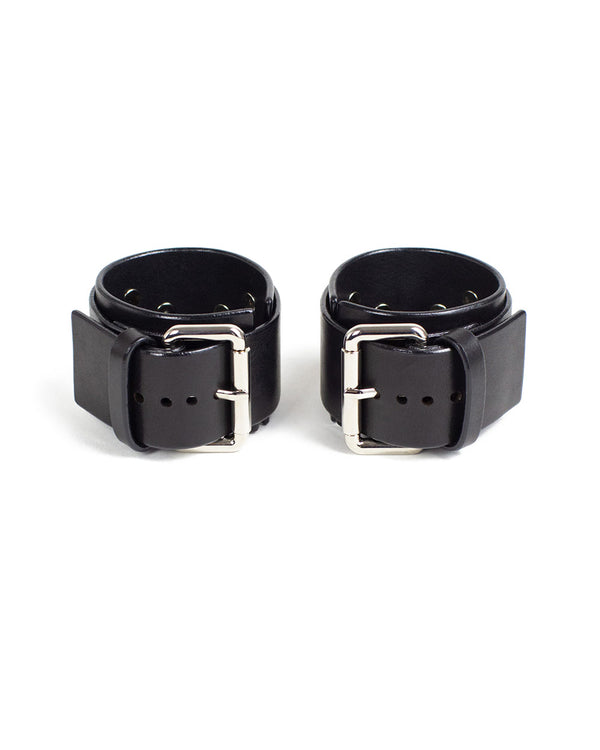 "Hand & Ankle cuffs ""UNO"" Black"