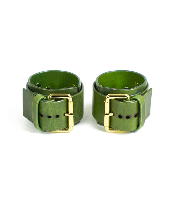 "Hand & Ankle cuffs ""UNO"" Green"