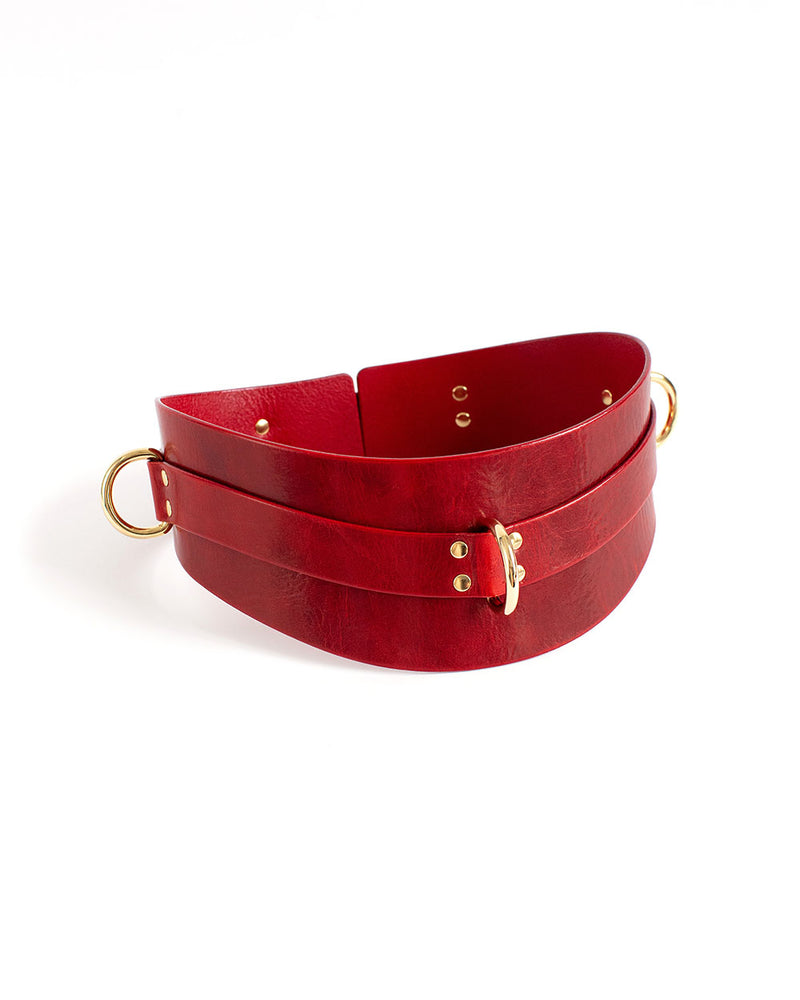 anoeses red leather bdsm belt