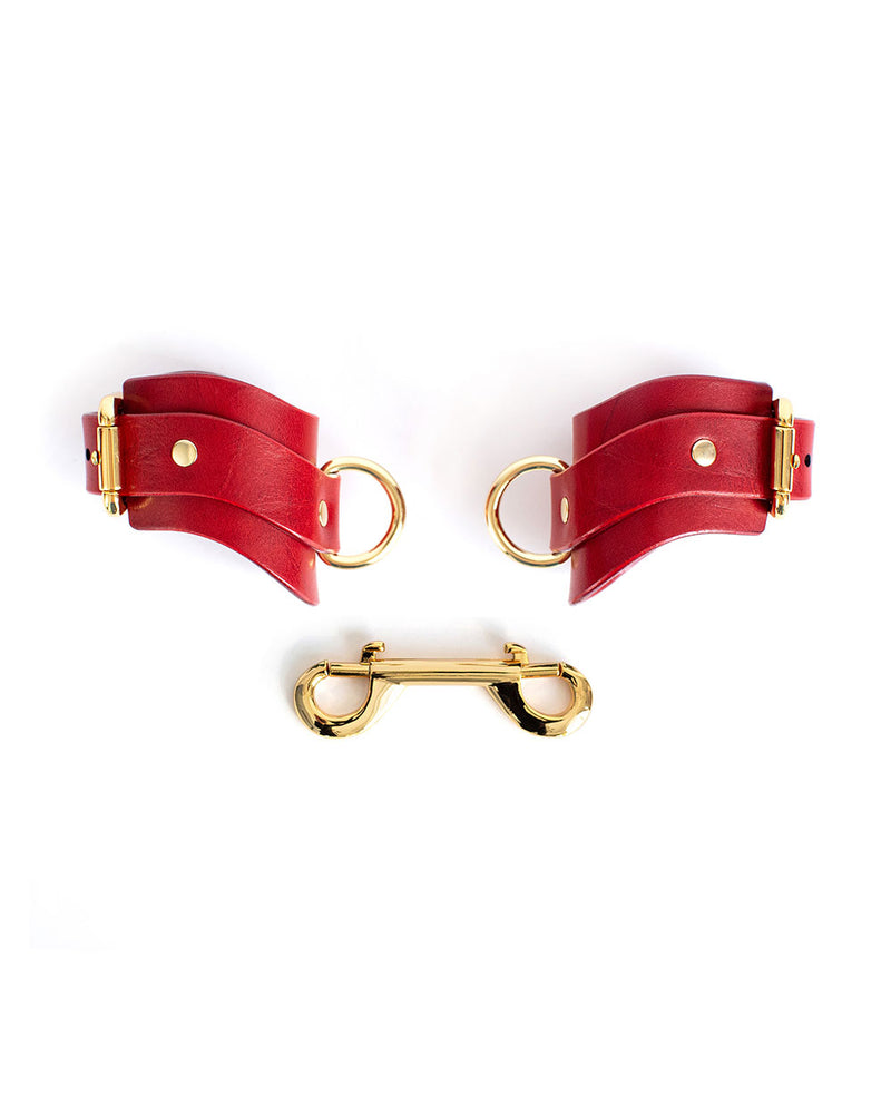 "Hand & Ankle cuffs ""URANIA"" Red"