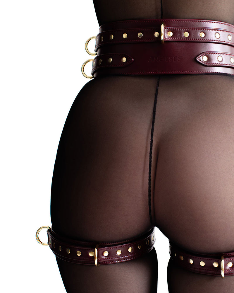 "Thigh Cuffs ""Aura"" Burgundy"