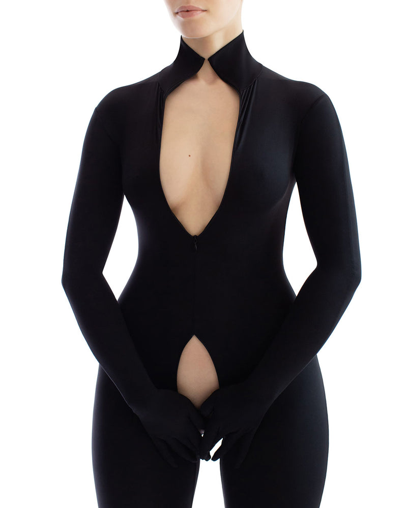 anoeses full body catsuit with zipper