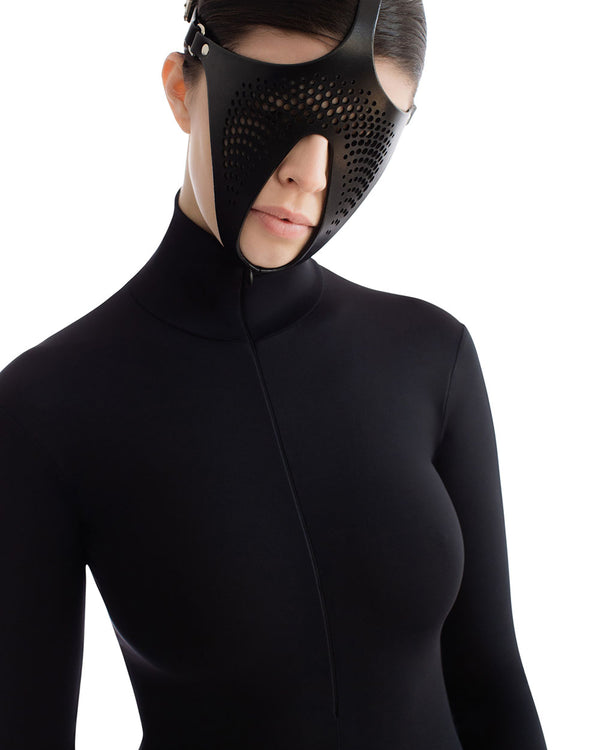 anoeses black leather fetish mask FLKN