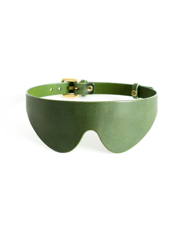 anoeses green blindfold leather mask