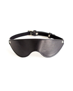 blindfold mask black leather by anoeses