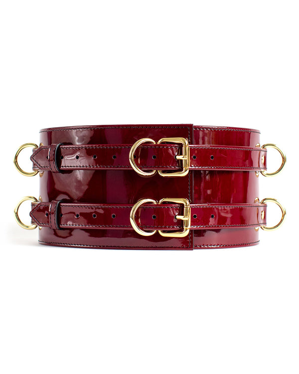 "Belt ""Dita"" Burgundy Patent"
