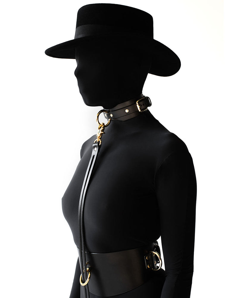 Submissive collar Leather