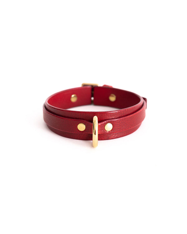 "Choker ""Moon mini"" Red"