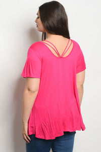 Short Sleeve Strappy Back Top
