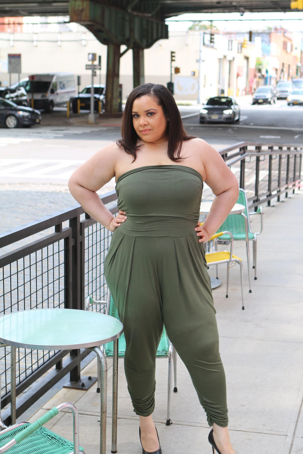 Ruched Jumpsuit