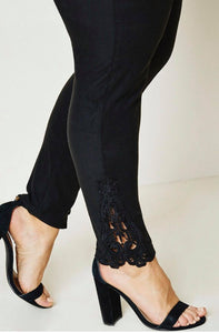 Lace Trim Leggings