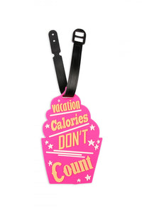 Vacation Calories Luggage Tag
