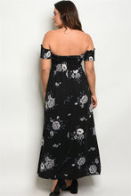 Load image into Gallery viewer, Smocked Top Off The Shoulder Maxi Dress