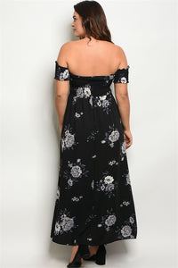 Smocked Top Off The Shoulder Maxi Dress