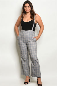 Plaid Overall Pants