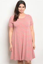 Load image into Gallery viewer, Scoop Neck Stripe Dress