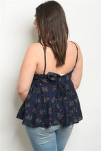 Load image into Gallery viewer, Bow Back Floral Tank Top