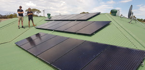 Solar Power System installed on rooftop.