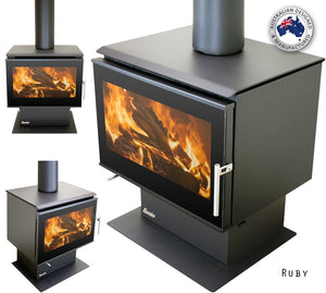 Eureka Ruby Freestanding Wood Fire (2011845951539)