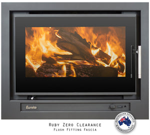 Eureka Ruby Zero Clearance Insert Wood Fire