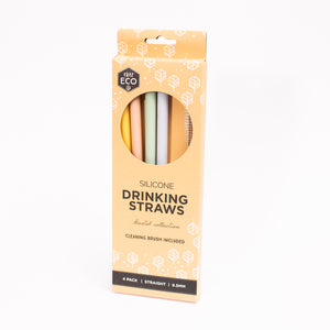 Ever Eco Silicone Straw 4pk (1957412536371)