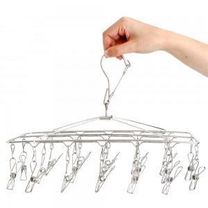 Stainless Steel Wire 19 Peg Hanger (4380399206489)