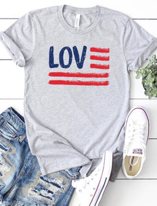 Love Flag Graphic Tee