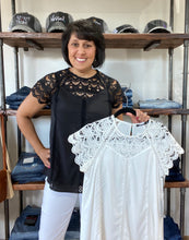 Load image into Gallery viewer, Lace Detail Top - Ivory