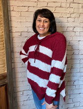 Load image into Gallery viewer, Popcorn Striped Sweater - Burgundy