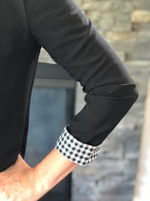 Load image into Gallery viewer, Blazer Jacket with Gingham Cuffs