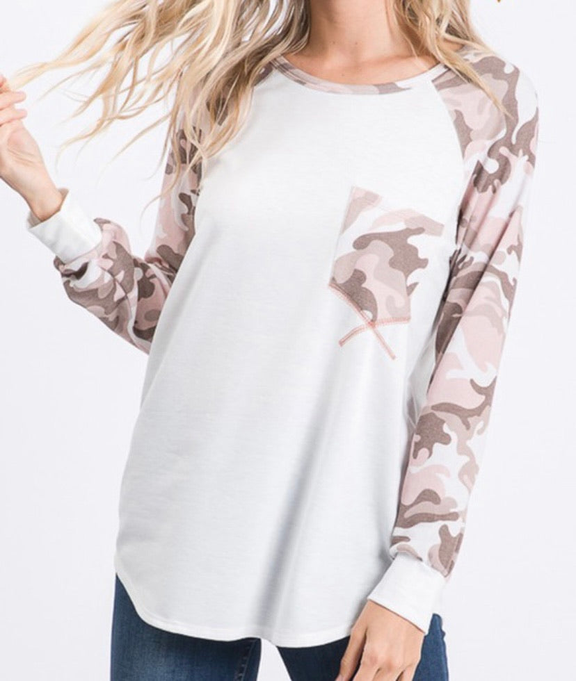 Ivory and Pink Camo