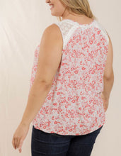Load image into Gallery viewer, Red Floral Sleeveless