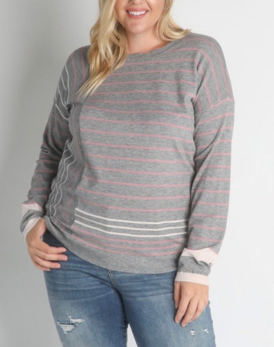 Heather Grey Crewneck, Curvy Sizes