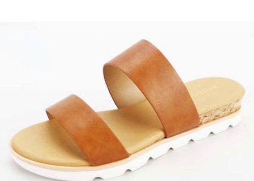 Cork Wedge - Tan