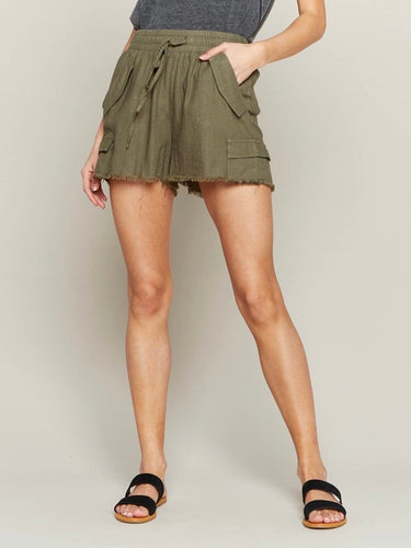 Olive Carry All Shorts