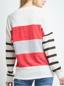 Red & Ivory Color Block
